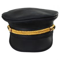 Sweetwater Leather Military Peaked Cap in