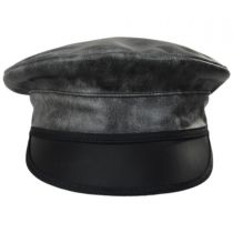 Ultra Leather Military Peaked Cap alternate view 2