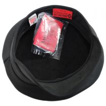 Ultra Leather Military Peaked Cap in