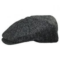Pimlico Wool Herringbone Newsboy Cap in