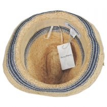 Monte Carlo Raffia Straw Blend Fedora Hat in