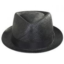 Montecarlo Grade 8 Panama Straw Diamond Crown Stingy Brim Fedora Hat in