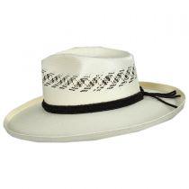 Edgy Shantung Straw Western Hat in