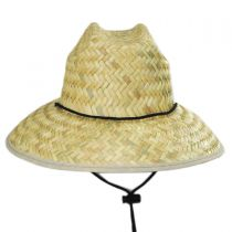 Costa Brava Palm Straw Kids Lifeguard Hat in