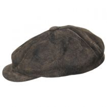 Rustic Leather Newsboy Cap alternate view 23