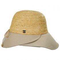 Gustavia Raffia and Cotton Cloche Hat in