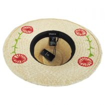 Joanna Embroidered Brim Palm Straw Fedora Hat alternate view 4