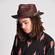 Crosby Straw Fedora Hat in