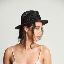 Dunns Open Weave Straw Fedora Hat in