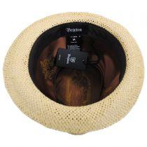 Castor Open Weave Toyo Straw Fedora Hat in