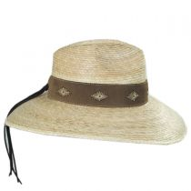 Bianca Palm Straw Safari Fedora Hat alternate view 3
