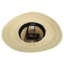 Bianca Palm Straw Safari Fedora Hat alternate view 4