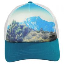 Cotton Blend Mesh Trucker Snapback Baseball Cap in