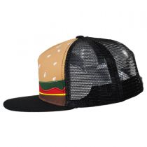 Kids Burger Trucker Snapback Baseball Cap in