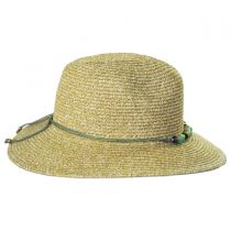 Beach Glass Toyo Straw Fedora Hat in