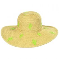 Cactus Embroidered Toyo Straw Blend Sun Hat alternate view 2