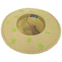 Cactus Embroidered Toyo Straw Blend Sun Hat alternate view 4