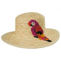 Polly Parrot Raffia Straw Boater Hat in