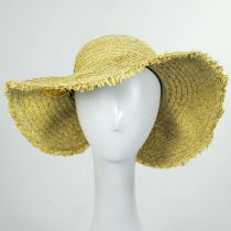Pineapple Embroidered Toyo Straw Blend Roll Up Visor Hat alternate view 2