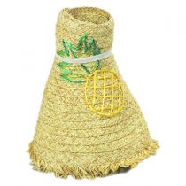 Pineapple Embroidered Toyo Straw Blend Roll Up Visor Hat alternate view 4