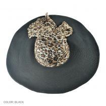Leopard Silk Crown Swinger Hat
