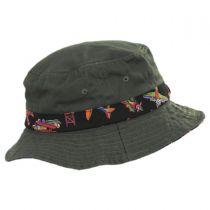 Aircraft Cotton Kids Bucket Hat alternate view 6