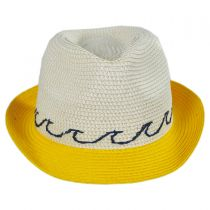 Waves Kids Toyo Straw Blend Fedora Hat in