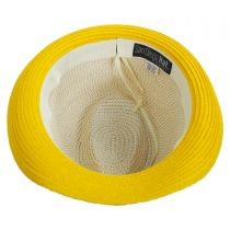 Waves Kids Toyo Straw Blend Fedora Hat alternate view 4
