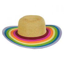 Roy G Biv Kids Toyo Straw Blend Sun Hat alternate view 2