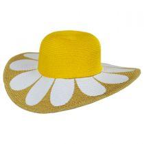 Kids Daisy Toyo Straw Blend Sun Hat alternate view 2