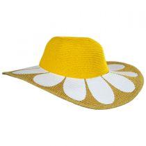 Kids Daisy Toyo Straw Blend Sun Hat alternate view 3