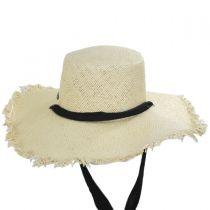 Linen Scarf Toyo Straw Sun Hat alternate view 2