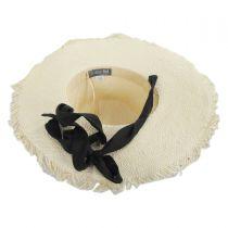 Linen Scarf Toyo Straw Sun Hat alternate view 4