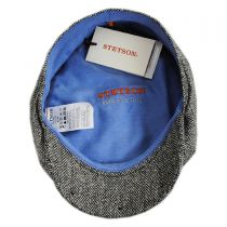 Silk Herringbone Newsboy Cap in