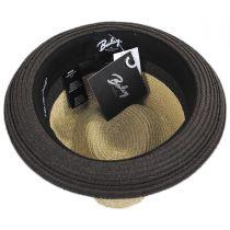 Rokit Toyo Straw Braid Trilby Fedora Hat in