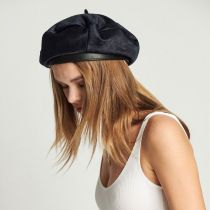 Audrey Faux Pony Hair Beret alternate view 9