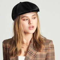 Brood Faux Pony Hair Newsboy Cap alternate view 17