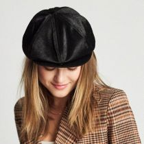 Brood Faux Pony Hair Newsboy Cap alternate view 18