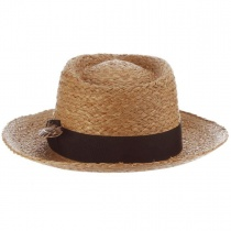 Paolo Raffia Straw Fedora Hat in