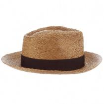 Paolo Raffia Straw Fedora Hat in