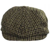 Brood Adjustable Houndstooth Wool Blend Newsboy Cap in