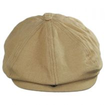 Brood Solid Linen and Cotton Newsboy Cap in