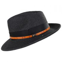 Denney Toyo Straw Blend Fedora Hat alternate view 3
