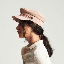 Kayla Leather Suede Fiddler Cap in