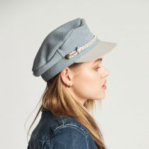 Kayla Leather Suede Fiddler Cap alternate view 45