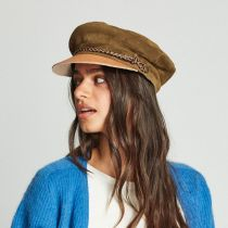 Kayla Leather Suede Fiddler Cap alternate view 56