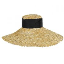 Chevron 6.5 Inch Brim Wheat Braid Lampshade Hat alternate view 2