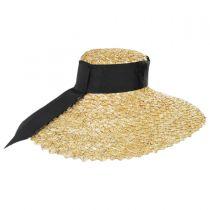 Chevron 6.5 Inch Brim Wheat Braid Lampshade Hat alternate view 3
