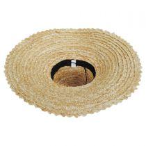Chevron 6.5 Inch Brim Wheat Braid Lampshade Hat alternate view 4