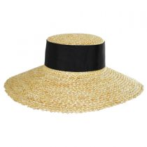 Chevron 4.5 Inch Brim Wheat Braid Lampshade Hat alternate view 2